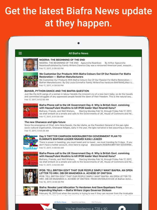 Biafra News + Radio + TV Extra on the App Store