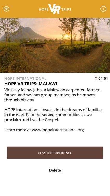 HOPE VR TRIPS