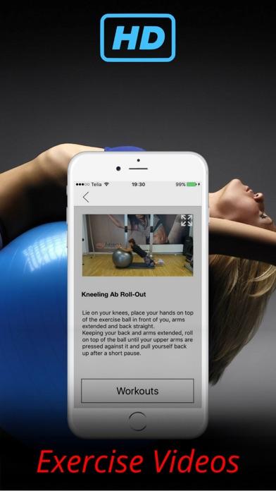 ジムボールはワークアウトトレーニングルーチン演習しますのおすすめ画像2