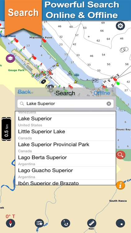 Superior Lake GPS offline nautical boaters chart screenshot-3
