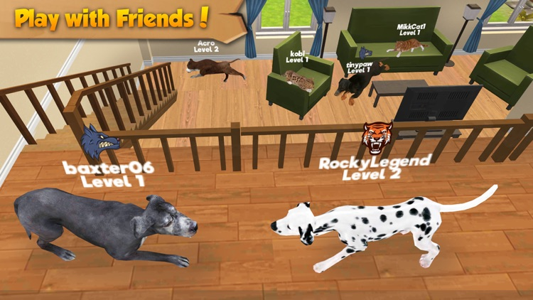 Cat & Dog Online: Multiplayer Kitten & Puppy Sim screenshot-3