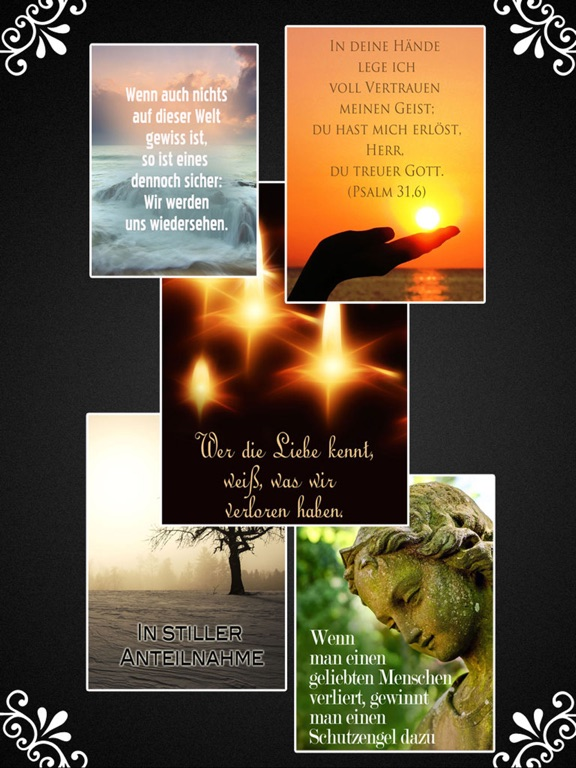 Trauerkarten Beileidskarten Kondolenzkarten TRAUER screenshot 7