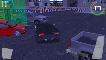 汽车驾驶模拟器的运动车停车夜晚的城市 App 截图