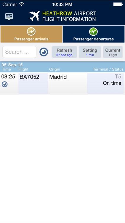 Heathrow Airport - Flight Info. screenshot-3