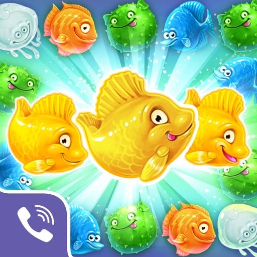 Viber Mermaid Puzzle - Match 3 Fish Rescue