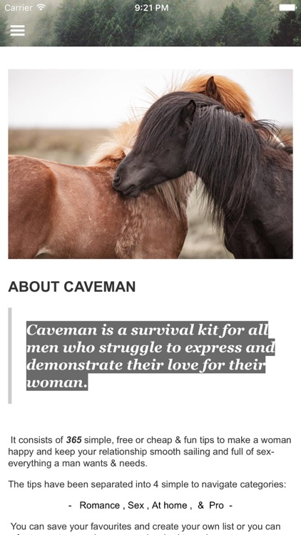 Caveman - Relationship tips and romance advice screenshot-3
