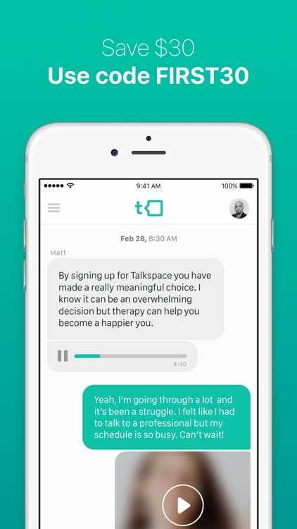 Talkspace Online Therapy - Licensed eCounseling screenshot-4