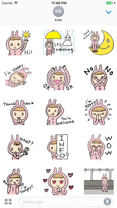 Daphne The Girl Who Loves Rabbit English Stickers