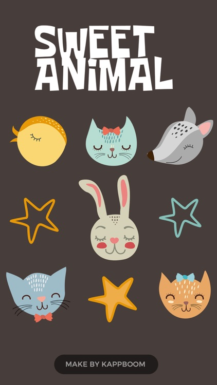 Cute Animals Stickers by Kappboom