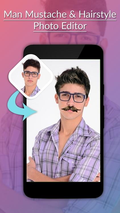 Man Mustache & Hairstyle Photo Editor screenshot-3