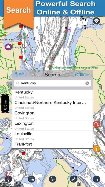 Kentucky & Barkley offline lake and park trails screenshot-3