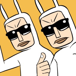 Bunny Men stickers