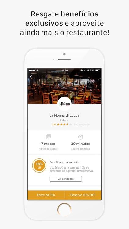 Get In - Reservas e Fila de Espera em Restaurantes screenshot-4