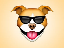 React with cute Pitbull Dog Stickers and Emojis Pack