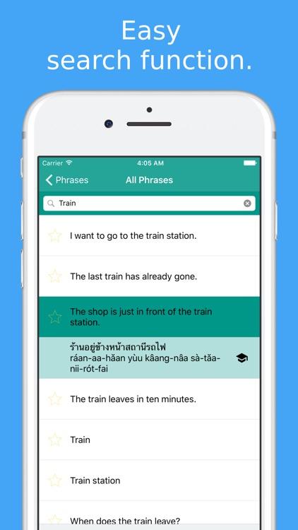 Simply Learn Thai Language - Speak Thai Phrasebook screenshot-4
