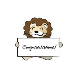 Lion & Card stickers by wenpei