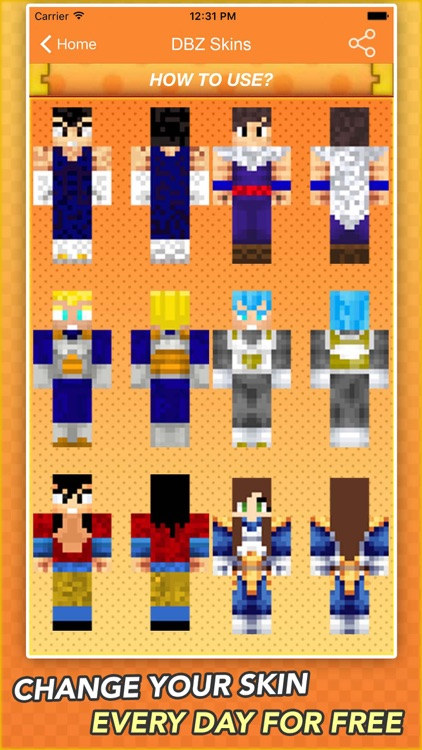 Super Skins For Dragon Ball Z Fans For Minecraft By Fatna Chaib - Skin para minecraft pe de dragon ball z