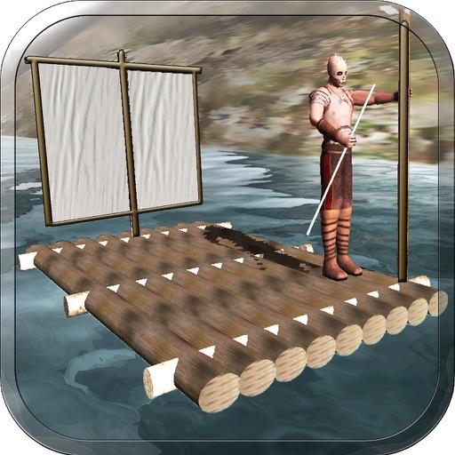Raft Survival Escape Race - Ship Life Simulator 3D application logo