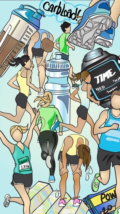 Running and Marathon Stickers