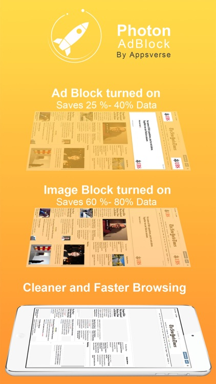 Photon Ad Blocker for Private Secret Browser App screenshot-0
