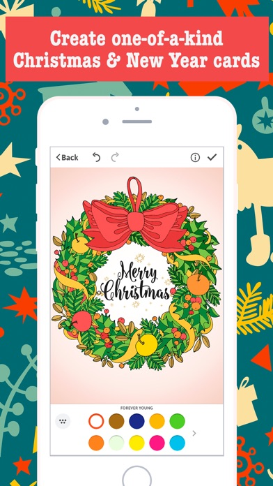 screenshot 3 for merry christmas card maker free greeting cards