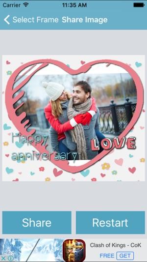 Wedding Anniversary Photo Frame on the App Store