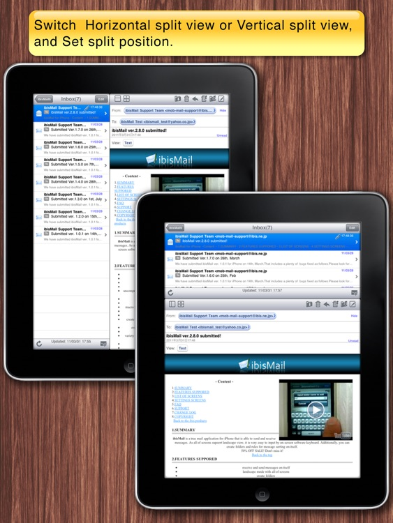 ibisMail for iPad - Filtering Mail screenshot-3