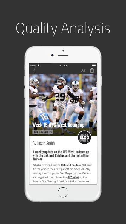 Just Blog Baby: News for Oakland Raiders Fans