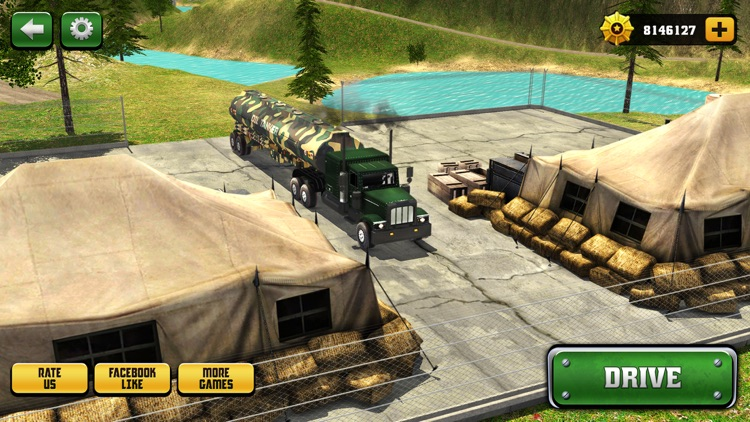 Uphill Offroad Army Oil Tanker Transporter Truck screenshot-0