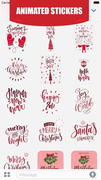 Animated Christmas Greetings for iMessage Stickers screenshot-3