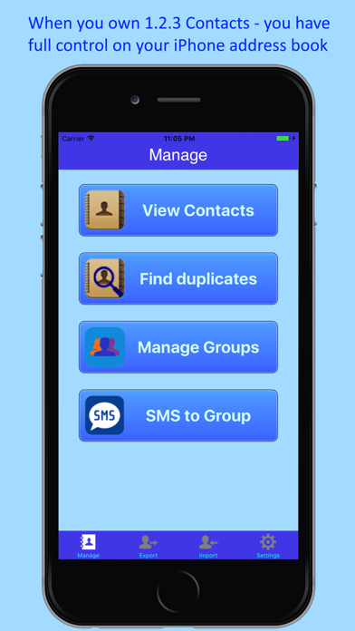 1.2.3 Contacts Backup & Merge