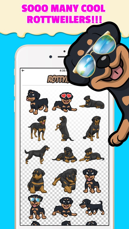 RottyEmoji - Rottweiler Emoji Keyboard & Stickers screenshot-1