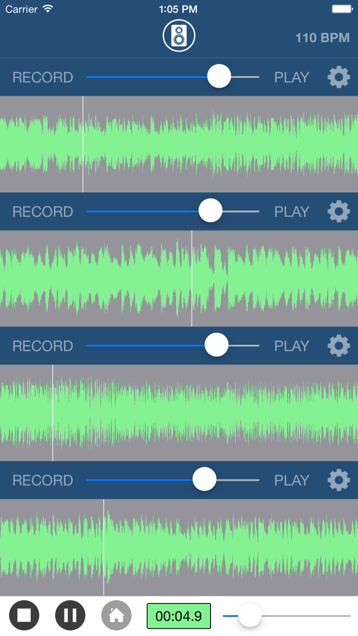 Multi Track Song Recorder Screenshot
