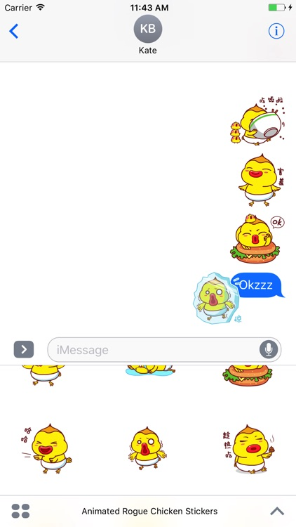 Animated Rogue Chicken Stickers For iMessage screenshot-4