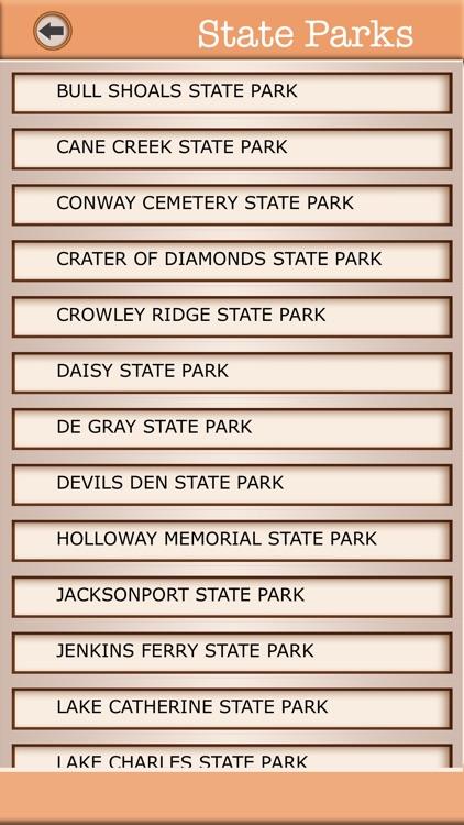 Arkansas Campgrounds & Hiking Trails Offline Guide screenshot-3