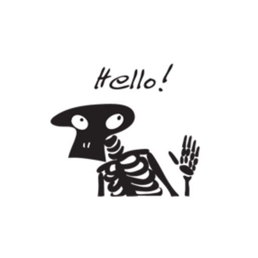 Skeleton Cute stickers by wenpei