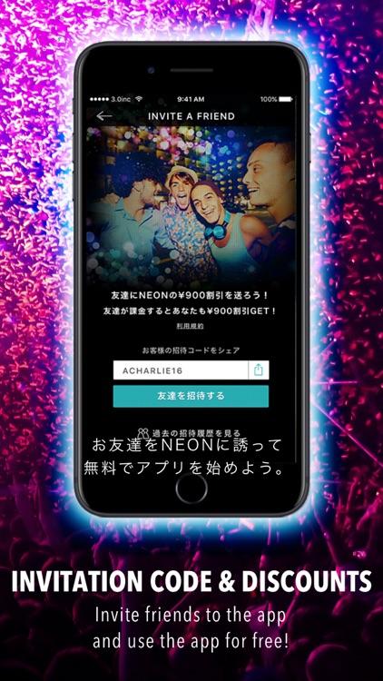 NEON - Smartphone app for Unlimited Nightclubbing screenshot-4