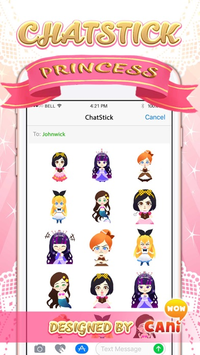 Little princess Stickers for iMessage