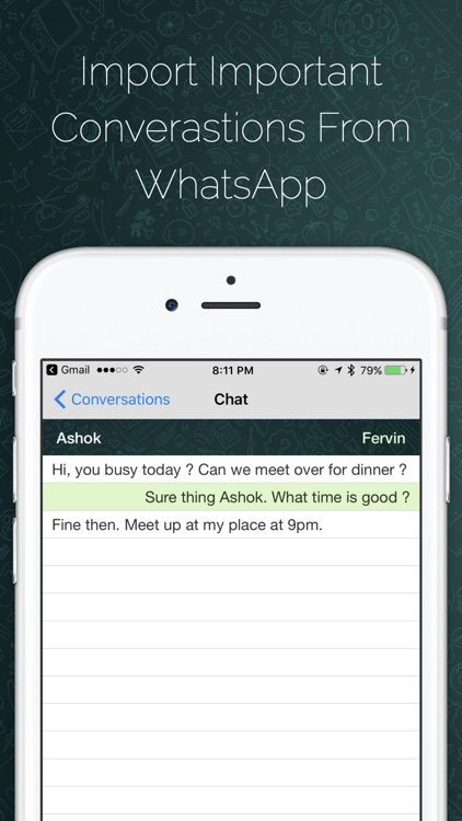 Securely Import Messages for WhatsApp