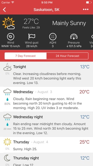 Météo - Canadian Weather on the App Store