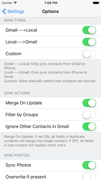 ZXContacts - Smart Contacts & Groups Manager screenshot four