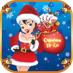 0X0X Christmas Hi Lo : Omaha Guess the Higher or Lower Card FREE Poker Game
