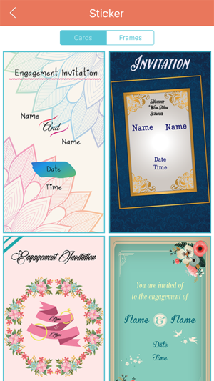 Engagement invitation cards maker pro on the app store stopboris Choice Image