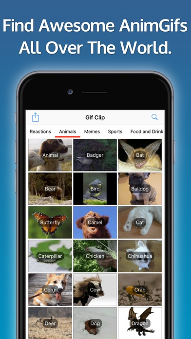 Gif Clip - Search, Share and Save Animated Gifs