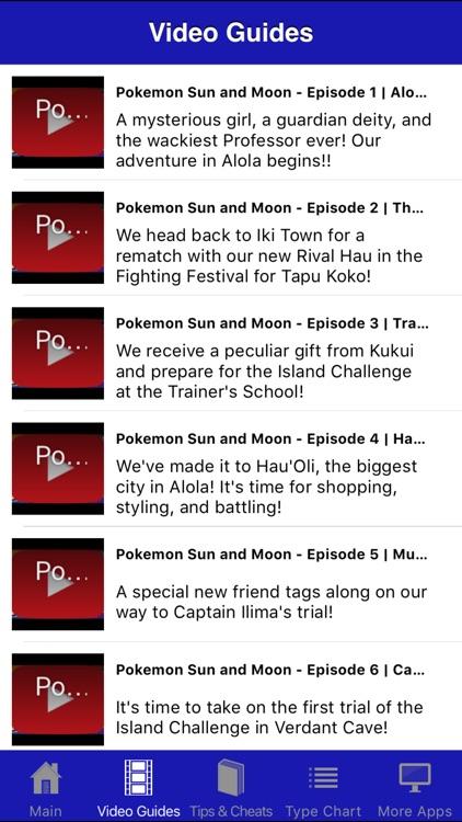 Guide & Cheats for Pokemon Sun & Moon