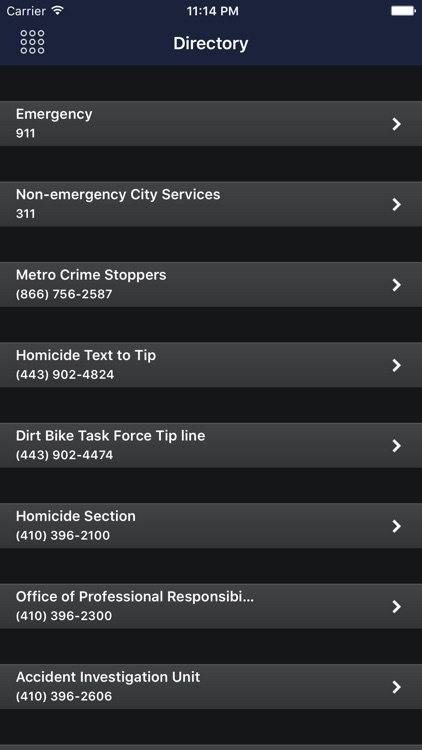 Baltimore Police Department Mobile screenshot-4