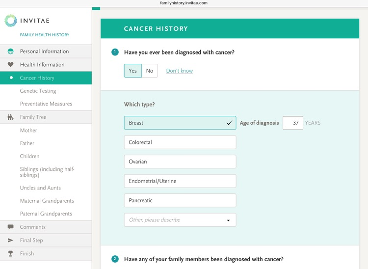 Invitae Family History Tool screenshot-3