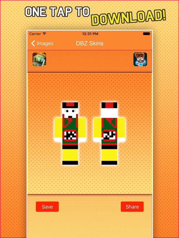 Super Skins For Dragon Ball Z Fans For Minecraft App Price Drops - Skins para minecraft pe de dragon ball z