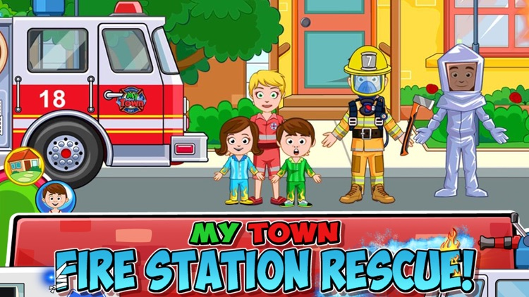 My Town : Fire station Rescue screenshot-0