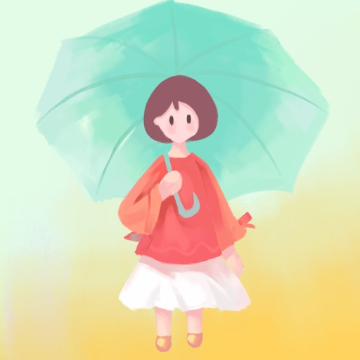 Color Girl - the girl in the raining iOS App